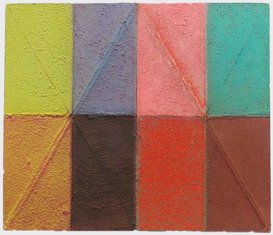 Erhard Joseph Ölfarbe und Pigmente auf gebrochener Hartfaserplatte 30 x 20, 2011 - 13