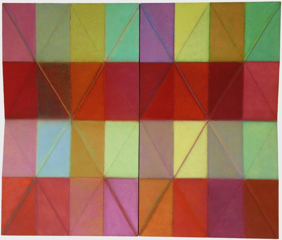 Erhard Joseph Ölfarbe und Pigmente auf gebrochener Hartfaserplatte 160 x 135, 2002 - 07